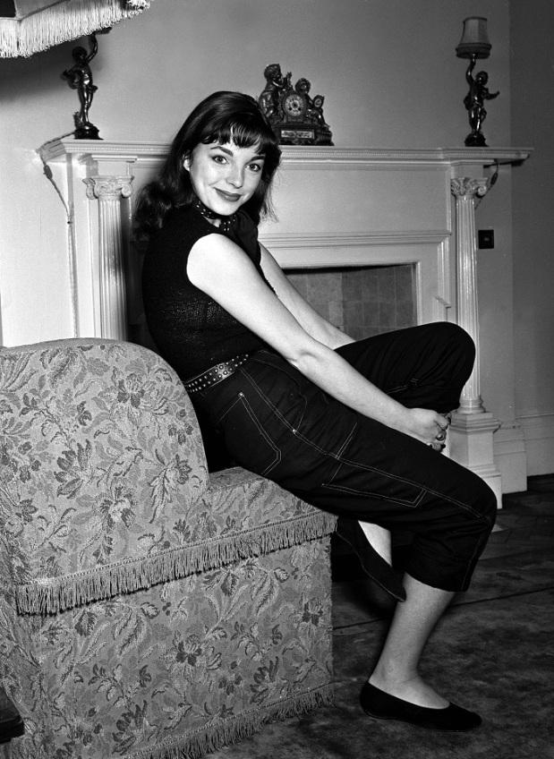British 'Film Starlet' Joan Collins at home. 1951