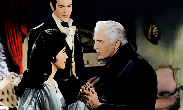 Myrna Fahey, Mark Damon and Vincent Price in Roger Corman's The Fall of the House of Usher.