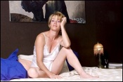 08/00/2001. EXCLUSIVE Brigitte Lahaie at home.
